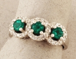 Stanton Color - Emerald & Diamond Ring SC- REM381