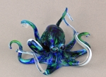 Hopko Art Glass - Blue & Green Octopus