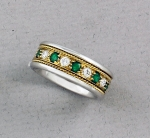 Samuel Jewels - 18k Gold, Emerald & Diamond Eternity Band - 41090-02