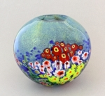 Shawn Messenger Bowl: Small Blue Gardenscape
