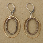 J & I Sterling Silver and 14k Gold Filled Earrings - SMQ14E