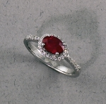 Stanton Color - Ruby & Diamond Ring SC-10-363-04