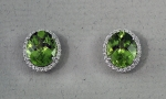 Stanton Color - Peridot & Diamond Earrings SC-12197-4