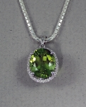 Stanton Color - Peridot & Diamond Pendant SC-12197-5