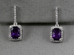 Stanton Color - Amethyst & Diamond Earrings SC-12199-17