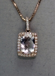 Stanton Color - Morganite & Diamond Pendant SC-12199-21