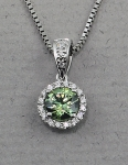 Stanton Color - Demantoid Garnet & Diamond Pendant SC-13160-03