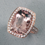 Stanton Color - Morganite & Diamond Ring  SC-13160-05