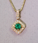 Stanton Color - Emerald & Diamond Pendant SC-13164-20