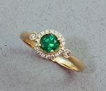 Stanton Color - Emerald & Diamond Ring SC-14173-10