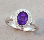 Stanton Color - Amethyst & Diamond Ring SC-14173-12