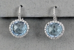 Stanton Color - Blue Topaz & Diamond Earrings SC - 14173-21