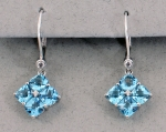 Stanton Color - Blue Topaz & Diamond Earrings SC - 14173-25