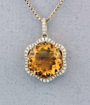 Stanton Color - Citrine & Diamond Pendant SC - 16145-04