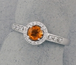 Stanton Color - Citrine & Diamond Ring SC-16145-06