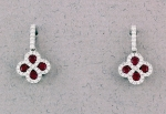Stanton Color - Ruby & Diamond Earrings SC-16145-07