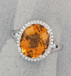 Stanton Color - Citrine & Diamond Ring SC-16145-09