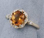Stanton Color - Citrine & Diamond Ring SC-16147-07