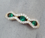 Stanton Color - Emerald & Diamond Ring SC-18280-11