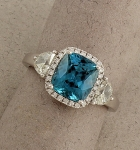 Stanton Color - Blue Zircon & Diamond Ring SC-17252-05