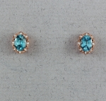Stanton Color - Blue Zircon & Diamond Earrings SC- 17252-06