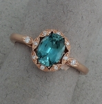 Stanton Color - Blue Zircon & Diamond Ring SC-17252-08