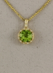 Stanton Color - Peridot & Diamond Pendant SC - 17252-24