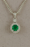 Stanton Color - Emerald & Diamond Pendant SC-17252-27