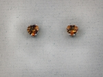 Stanton Color - Citrine Heart Earrings SC-10363-09