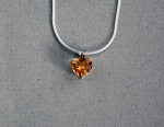 Stanton Color - Citrine Heart Pendant SC-10363-11