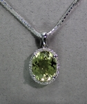 Stanton Color - Lemon Quartz & Diamond Pendant SC-12199-07
