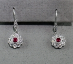 Stanton Color - Ruby & Diamond Earrings SC-10-363-13