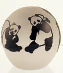 Correia Art Glass - Paperweight - Panda Design