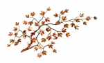 Bovano - W100 - Maple Branch with Autumn Enameled Leaves