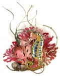 Bovano - W1948 - Rainbow Seahorse with Coral