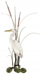 Bovano - W362 - Small Egret with Cattails