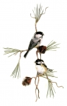 Bovano - W4435 Chickadees with 3D Pine Cones