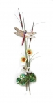 Bovano - W7628 - Peach Dragonfly with Flowers & Cattails