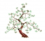 Bovano - W97 Patina - Gingko Branch with Patina Leaves