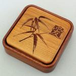 Heartwood Creations - Lift Top Box - Bamboo with Love Kanji