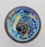 Kelly Powell - Marble - KP22 - Large Dicro Vortex with Opal Planet