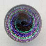 Kelly Powell - Marble - KP28 - Large Dicro Vortex with Red Opal Planet