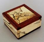 Natural Renaissance: NR24 Magnetic Box - Bloodwood and Spalted Maple