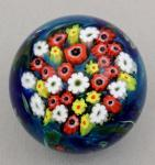 Shawn Messenger Paperweight: Poppies with Yellow and White Daisies Weight