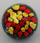 Shawn Messenger Paperweight: Red and Yellow Rose Weight