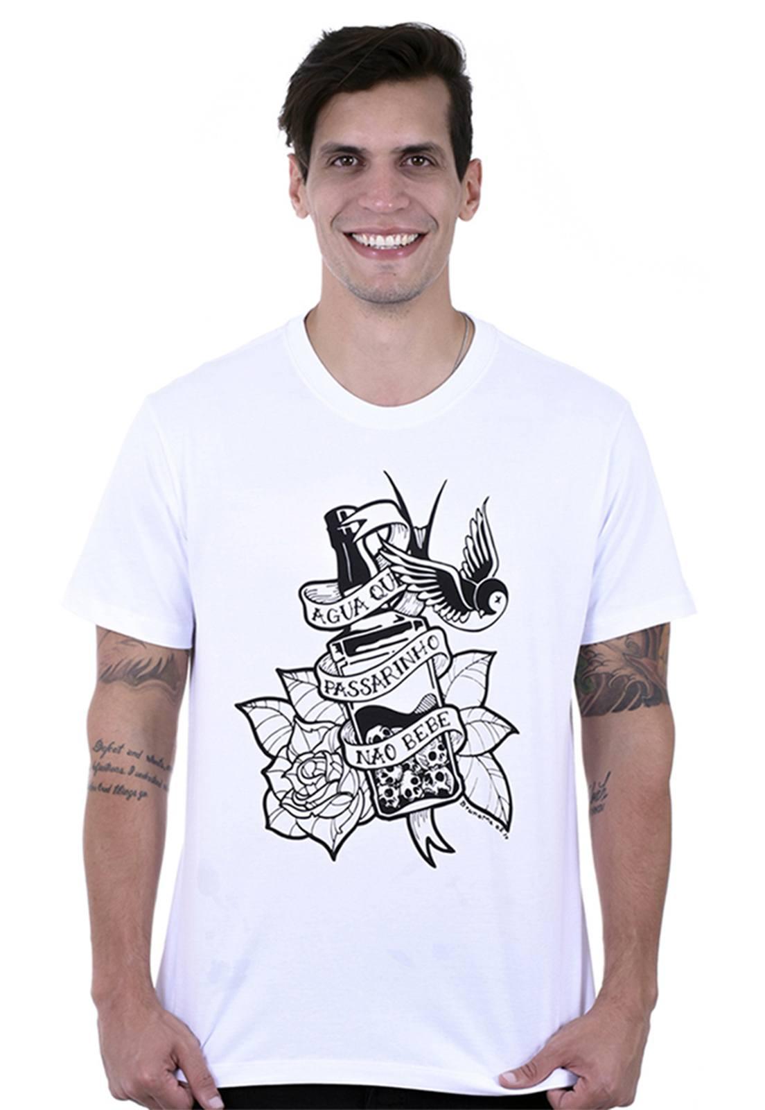 Camiseta Hardivision Jack Manga Curta Branco