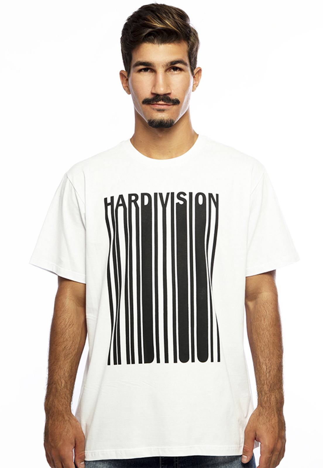 Camiseta Hardivision New Order Manga Curta Branco