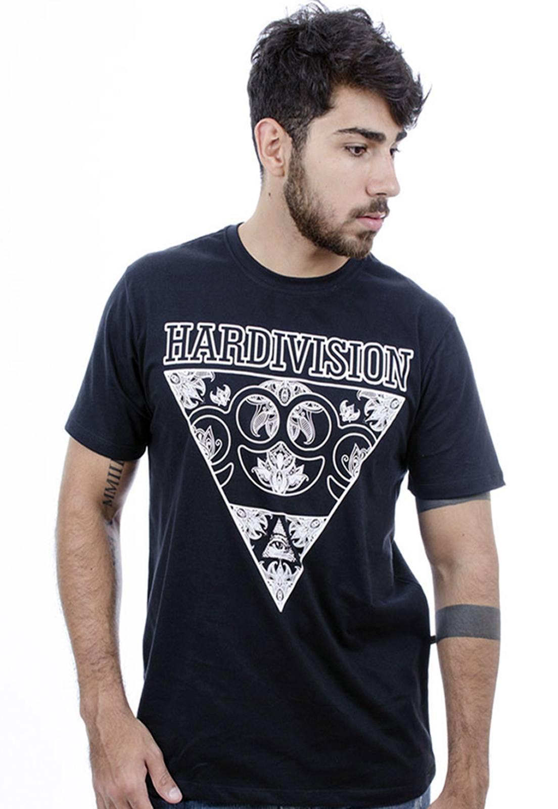 Camiseta Hardivision Skateboarder Manga Curta Preto