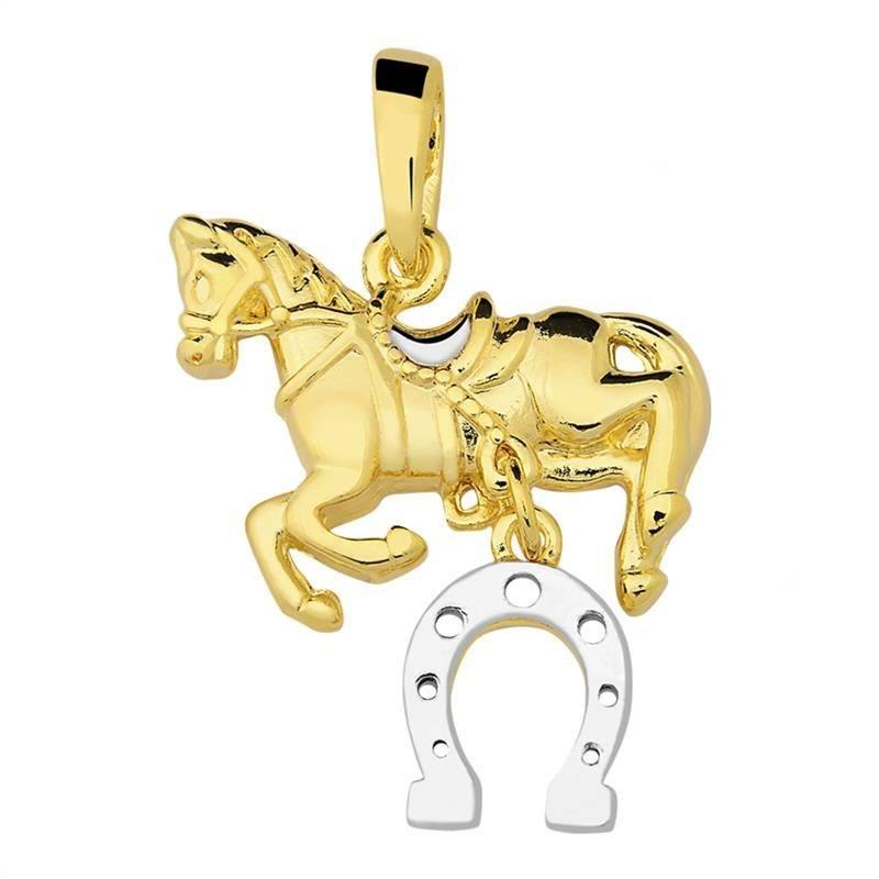 Pingente Cavalo Folheado Ouro