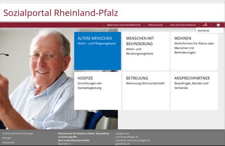 Screenshot-Startseite-Sozialportal-Individualentwicklung
